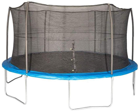 Jumpking 10 Feet Outdoor Trampoline And Safety Net Enclosure, Blue | Jk10Vc1