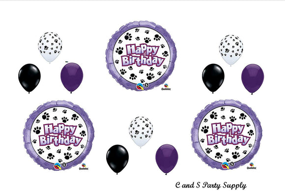 Dog Paw Print Patrol Birthday Party Mylar Balloon Decorations Supplies By Qualatex