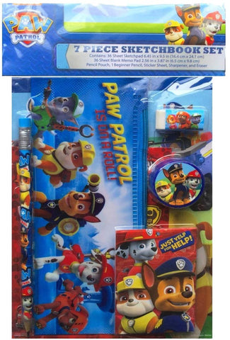 Paw Patrol 7 Piece Sketchbook Set By Nickelodeon