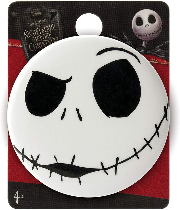 Nightmare Before Christmas Jack Angry Single Button Pin