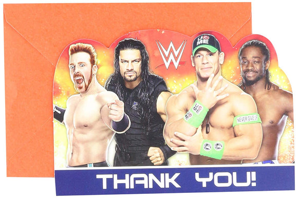 Amscan Wweparty Thank You Postcards, Party Favor