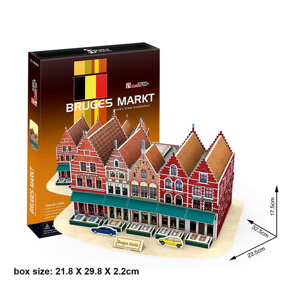 Cubicfun 3D Puzzle 45 Pieces: Bruges Markt Grand Place