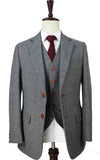 CLASSIC GREY HERRINGBONE TWEED 2 PIECE SUIT