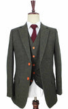 GREEN BARLEYCORN TWEED 2 piece