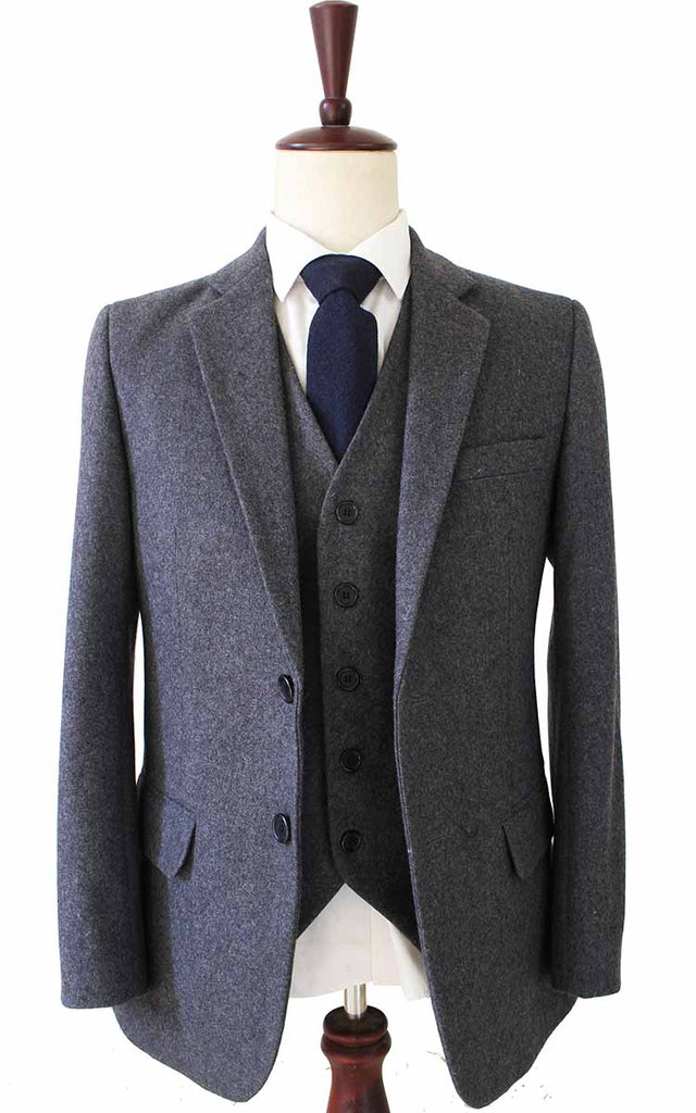 GREY TWILL TWEED 2 PIECE SUIT - BDtailormade