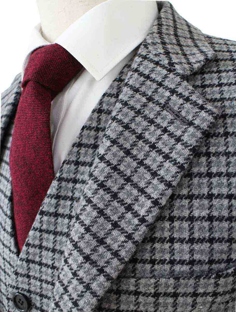 grey houndtooth tweed 2 piece suit