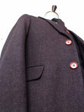 DARK BROWN BARLEYCORN TWEED JACKET - BDtailormade