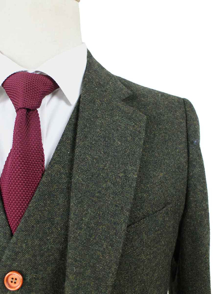 GREEN BARLEYCORN TWEED wedding suit