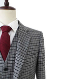 grey houndtooth tweed jacket