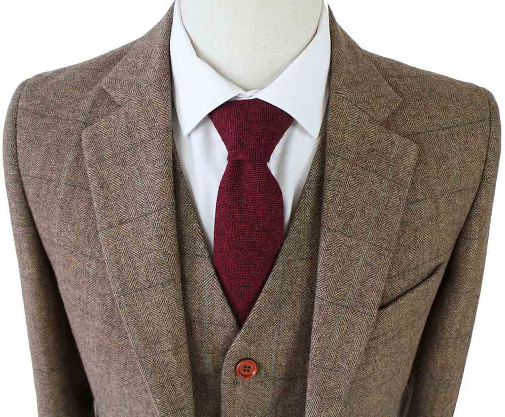 BROWN HERRINGBONE TWEED 2 PIECE SUIT - BDtailormade