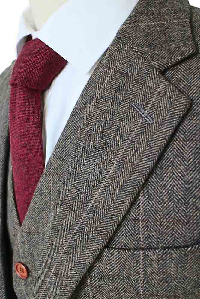 COUNTRY ESTATE GREEN HERRINGBONE TWEED 2 PIECE SUIT - BDtailormade