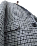 quality grey houndtooth tweed suits