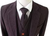 DARK BROWN BARLEYCORN TWEED 2 PIECE SUIT - BDtailormade
