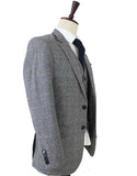 RETRO GREY PLAID TWEED 2 PIECE SUIT - BDtailormade