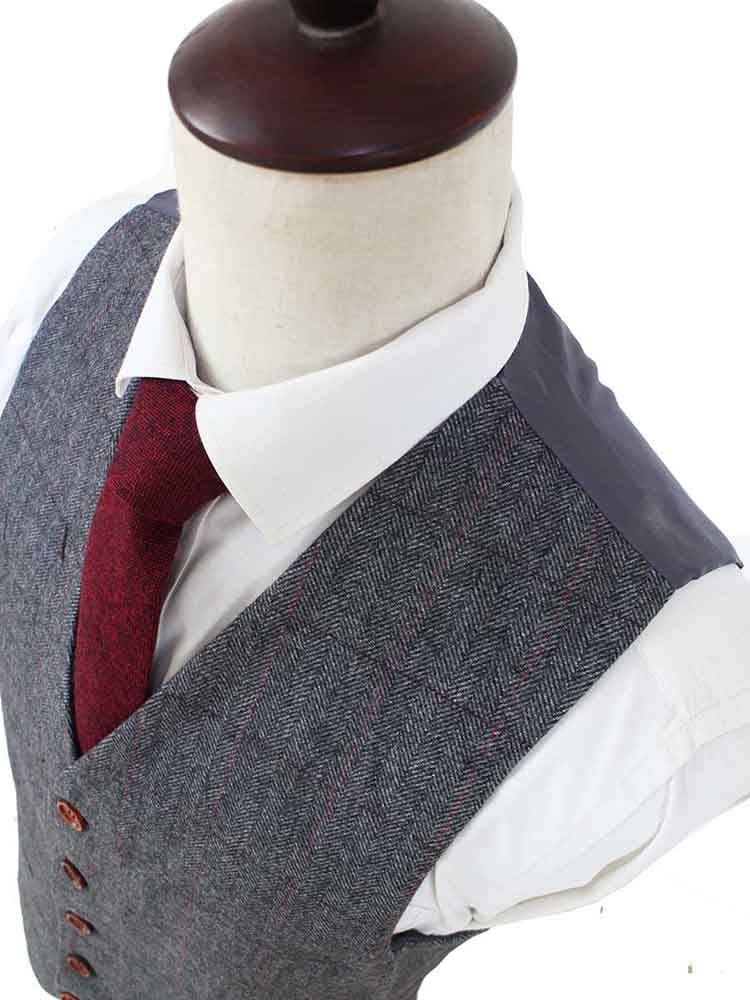 GREY HERRINGBONE TWEED 2 PIECE SUIT - BDtailormade