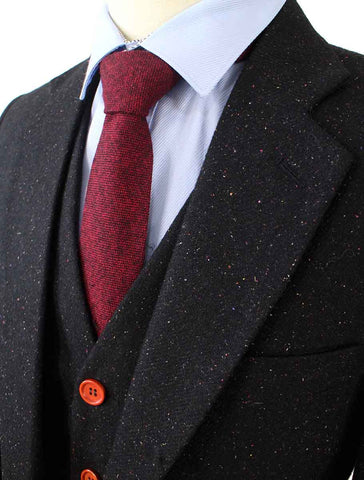 CHARCOAL SPECKLED DONEGAL TWEED 3 PIECE SUIT - BDtailormade