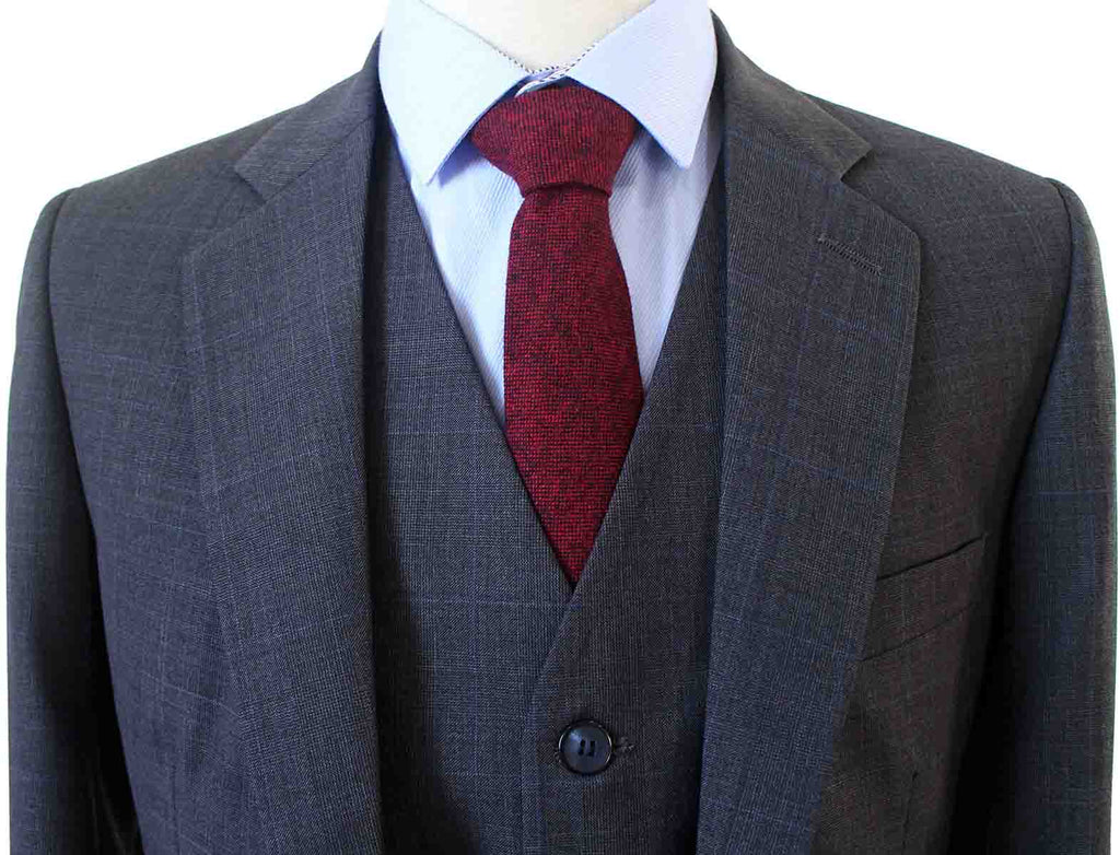 CHARCOAL PRINCE OF WALES CHECK SUIT - BDtailormade