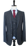 CLASSIC BLACK SPECKLE TWEED 3 PIECE SUIT