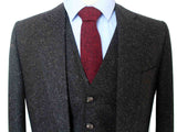 CLASSIC BLACK SPECKLE TWEED 3 PIECE SUIT - BDtailormade