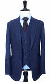 CLASSIC NAVY SPECKLE TWEED 3 PIECE SUIT
