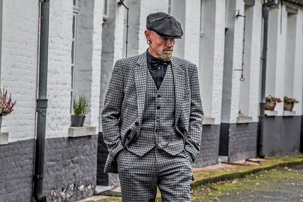 GREY HOUNDSTOOTH TWEED 2 PIECE - BDtailormade