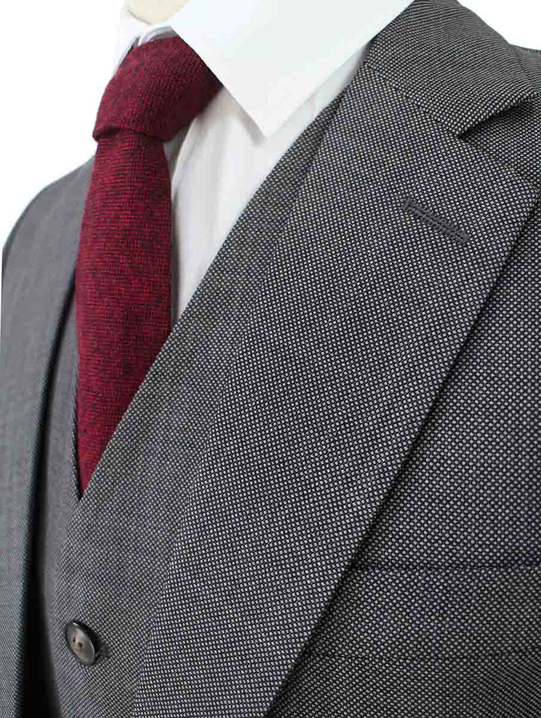 GREY BIRDSEYE WORSTED 3 PIECE SUIT - BDtailormade