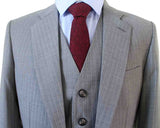 LIGHT GREY PINSTRIPE WORSTED 3 PIECE SUIT - BDtailormade