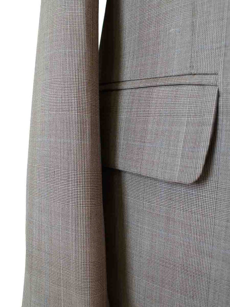 LIGHT BROWN PRINCE OF WALES CHECK SUIT - BDtailormade