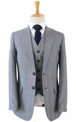 LIGHT GREY PRINCE OF WALES CHECK SUIT - BDtailormade