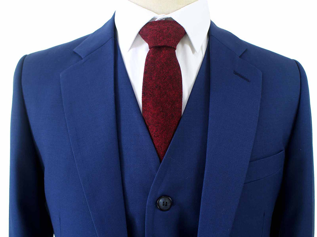NAVY WORSTED 3 PIECE SUIT - BDtailormade