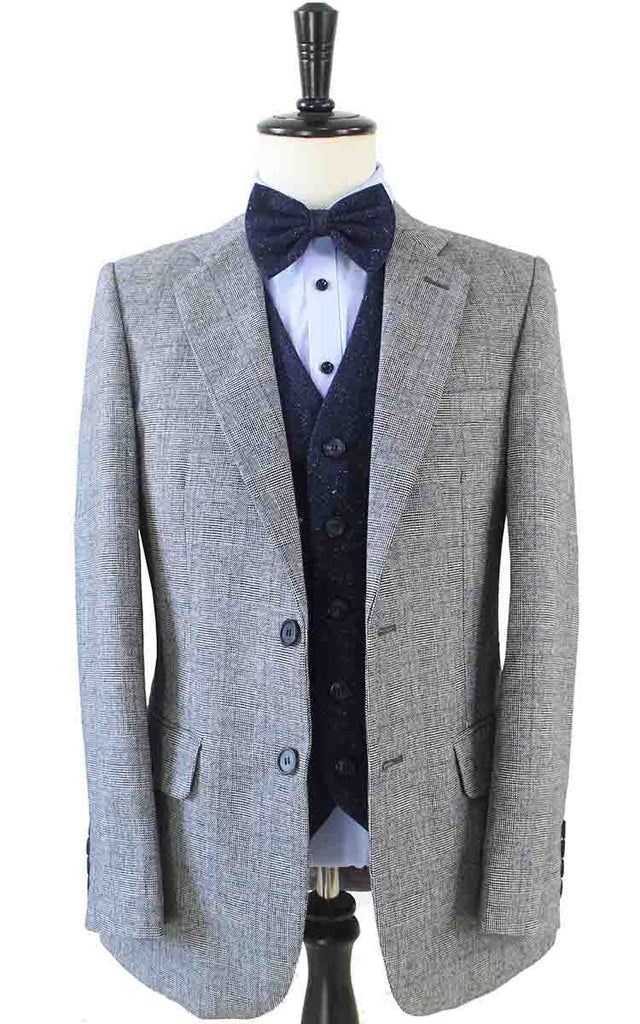 RETRO GREY PLAID MIX & MATCH TWEED 3 PIECE SUIT - BDtailormade