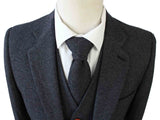 CHARCOAL HERRINGBONE TWEED 3 PIECE SUIT - BDtailormade