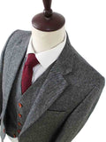 classic grey barelycorn tweed 3 piece suits