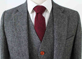 classic grey barelycorn tweed suit 3 piece
