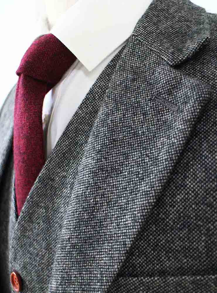 classic grey barelycorn tweed jacket