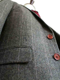 COUNTRY ESTATE GREEN HERRINGBONE TWEED 3 PIECE SUIT - BDtailormade