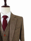 country herringbone tweed suit 3 piece