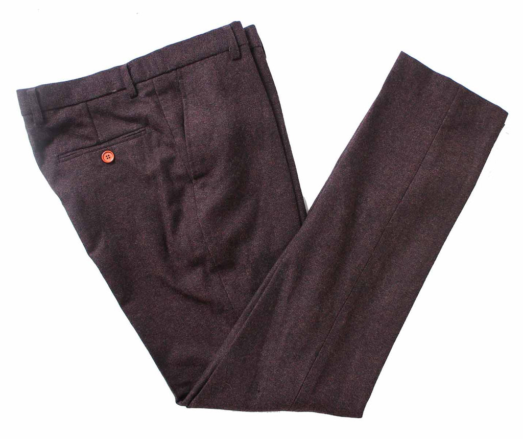 dark brown barleycorn tweed trousers