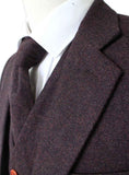 dark brown barleycorn tweed suit