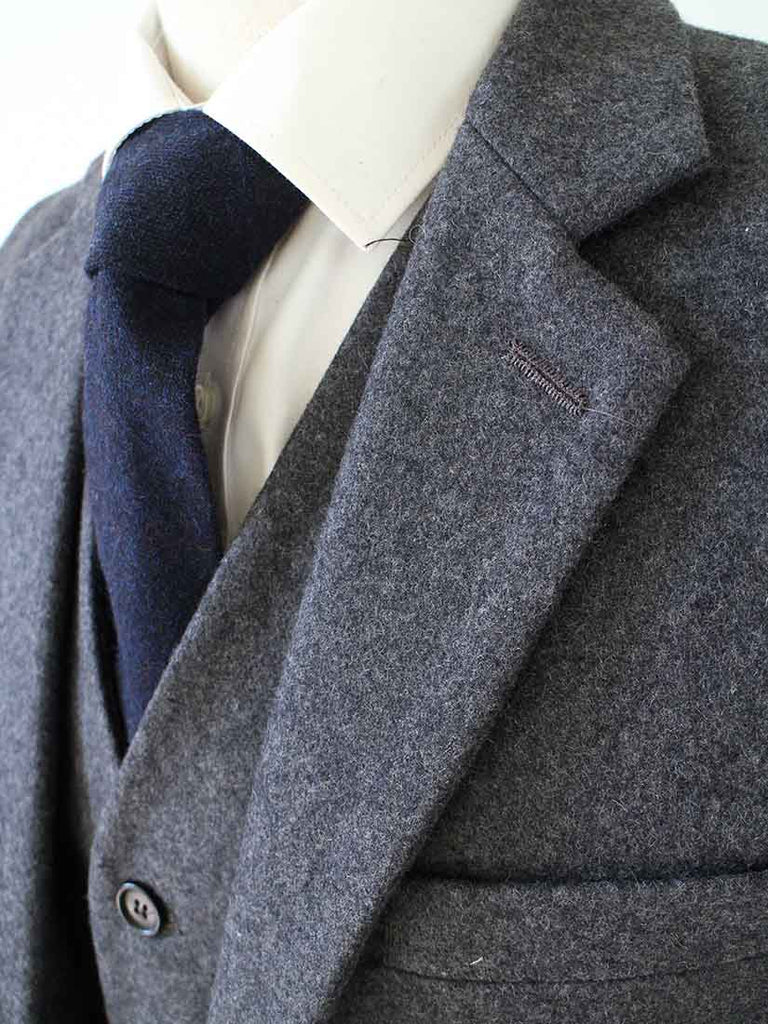 GREY TWILL TWEED 3 PIECE SUIT - BDtailormade