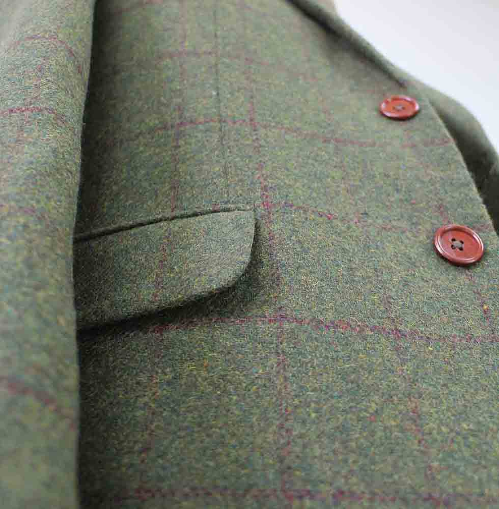 olive green plaid tweed suits