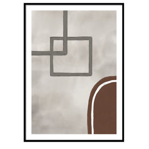 Bronx abstract poster