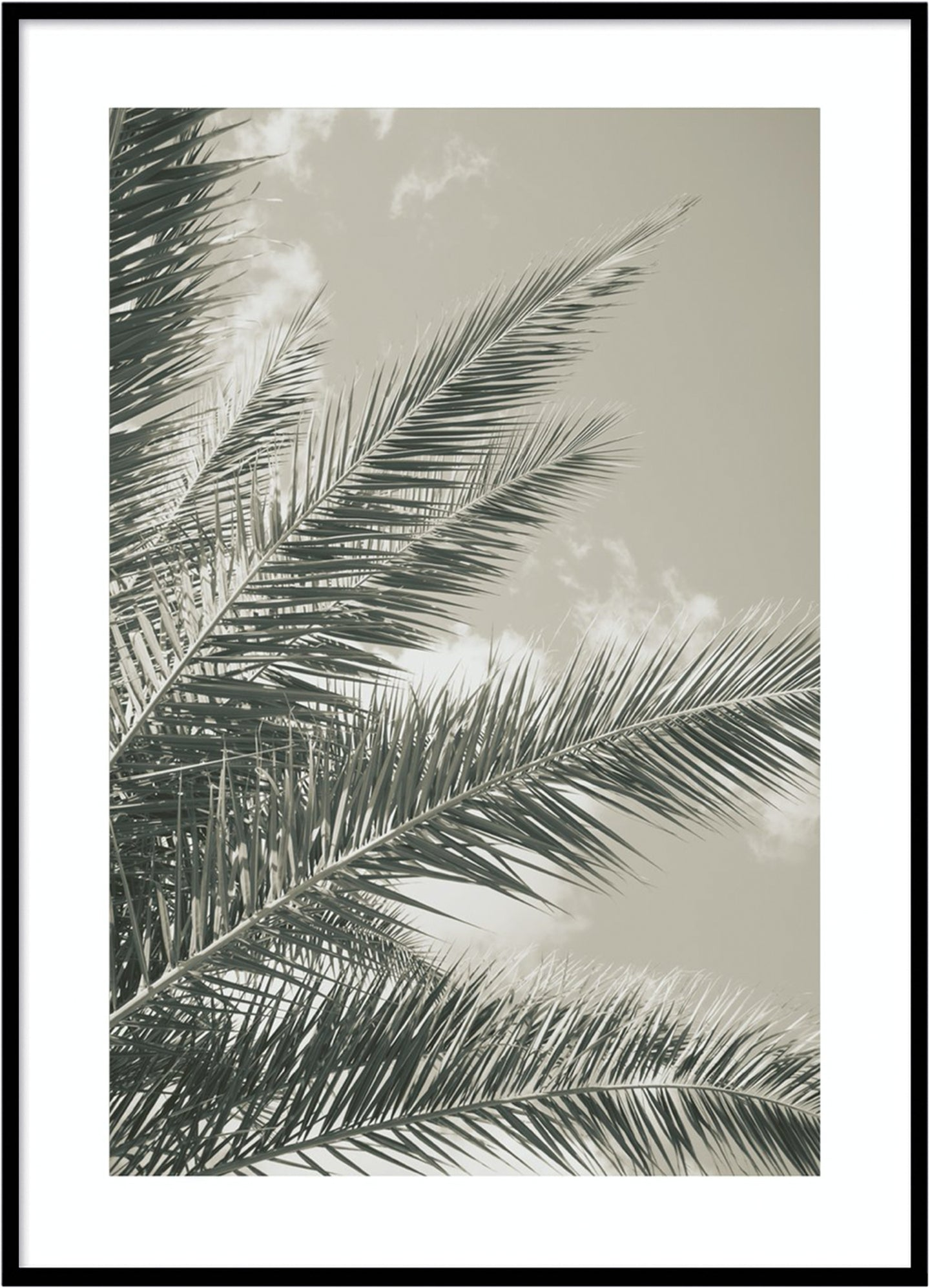 Golden palm leaf
