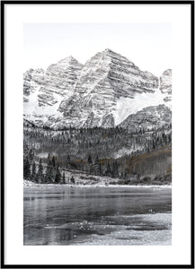 Frozen lake poster