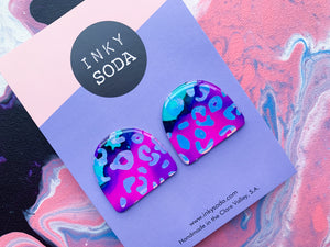 Holographic Leopard / Naked Aura - Whopper Studs