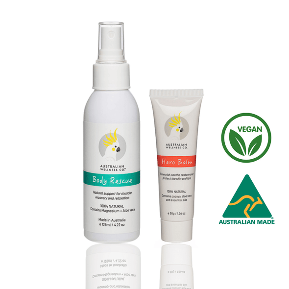 ESSENTIAL DUO. Multipurpose Hero Balm 1.06oz/30g + Body Rescue Relaxation spray 4.22oz/125ml