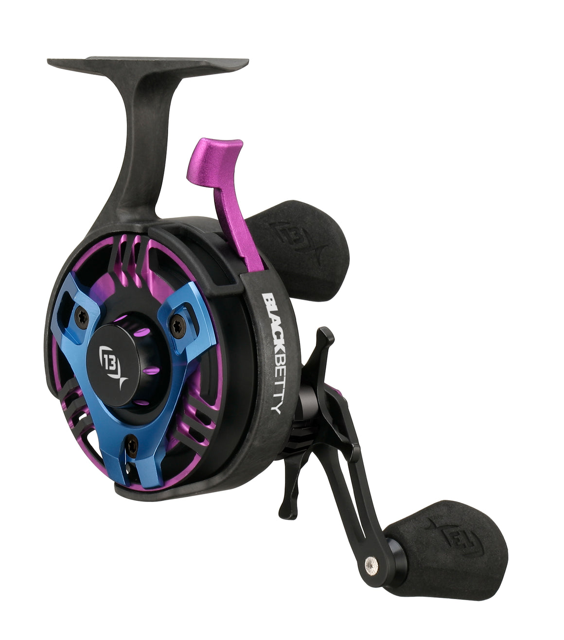13 Fishing Black Betty FreeFall Ice Reel - Trickshop Edition (Miami Night) - Direct Fishing Sales