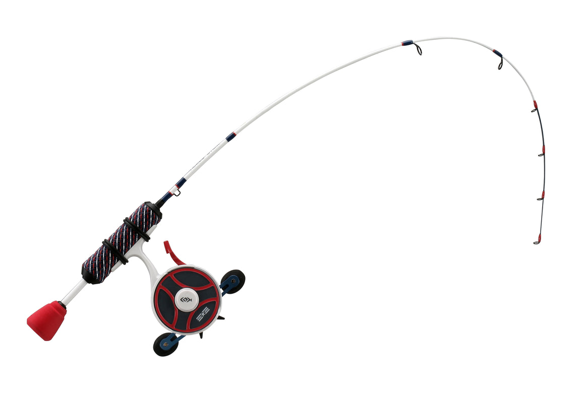 13 Fishing Black Betty Freefall Ghost Patriot Edition Combo - Direct Fishing Sales