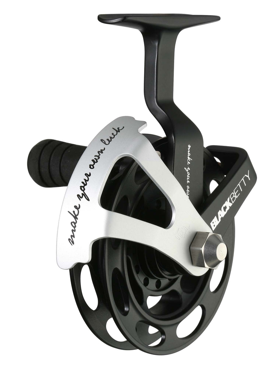 13 Fishing Black Betty Inline Ice Reel 1:1 Gear Ratio - LH+RH Interchangeable - Direct Fishing Sales