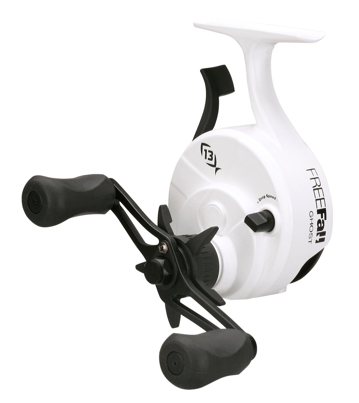 13 Fishing Black Betty FreeFall Ghost Ice Reel - White - Direct Fishing Sales